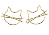 Pearly Cat Hair Clip Set