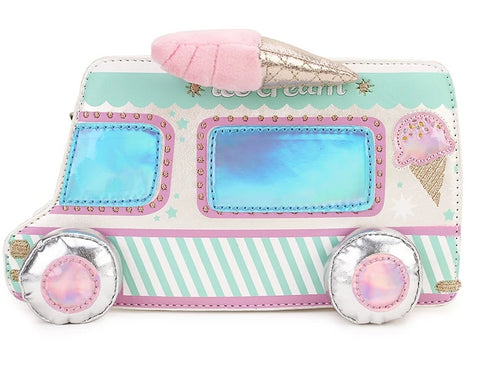 Cute Ice Cream Truck Crossbody Bag