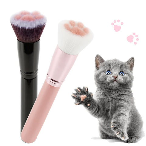 Cute Cat Lover Paws Makeup Brush