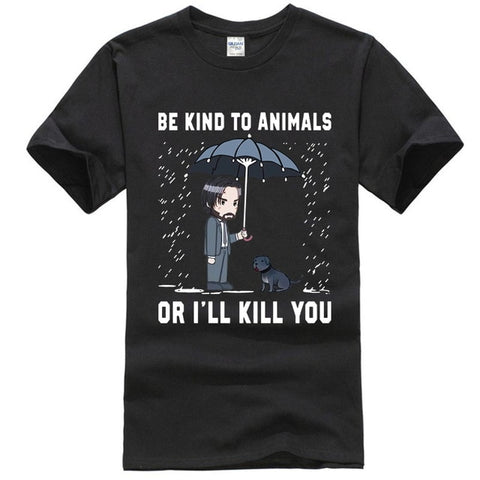 Keanu Reeves Be Kind To Animals or I'll Kill You T-Shirt