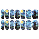 Starry Night Van Gogh Art Nail Sticker