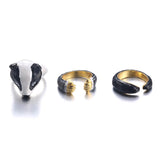 Honey Badger Trio Ring