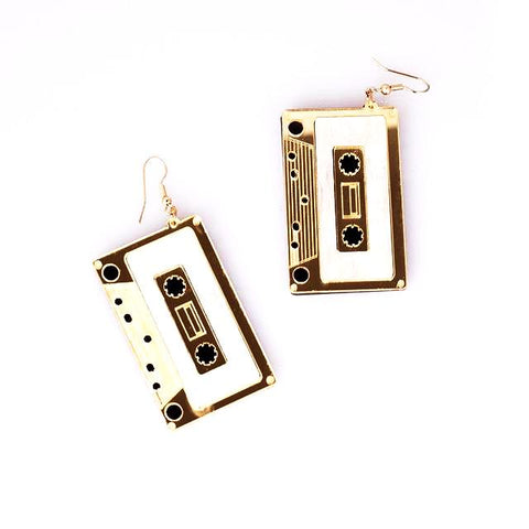80's Mix Tape Drop Earrings