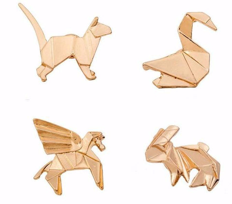 Origami Animal Pin Set