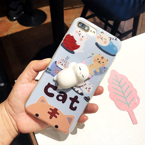 Kawaii 3D Squishy Animal iphone Case