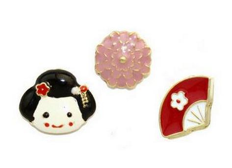 Sakura Charms Enamel Pin Set