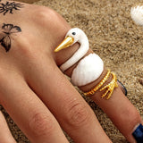 Elegant Swan Trio RIng