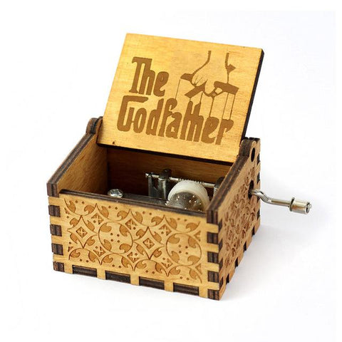 Antique Carved Music Box- The Godfather