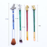 Hogwarts Emblems Inspired Deluxe Makeup Brush Set