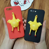 Funny 3D Squishy Egg Laying Hen iPhone Case