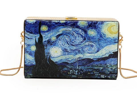 Starry Night Crossbody Clutch