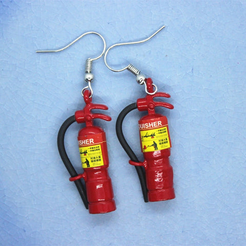 Miniature Fire Hydrant Drop Earrings