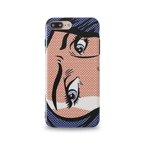 Pop Art Girl Eyes iPhone Case