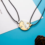 Adorable Cat Yin & Yang 2 Pieces Necklace Set