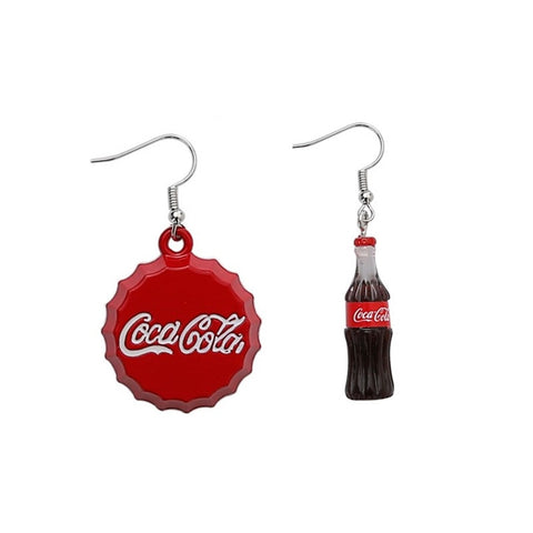 Miniature Coke Bottle Drop Earrings