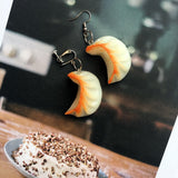 Miniature Dim Sum Dumpling Drop Earrings