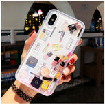 Designer Cosmetics Glitter Quicksand Liquid Phone Case