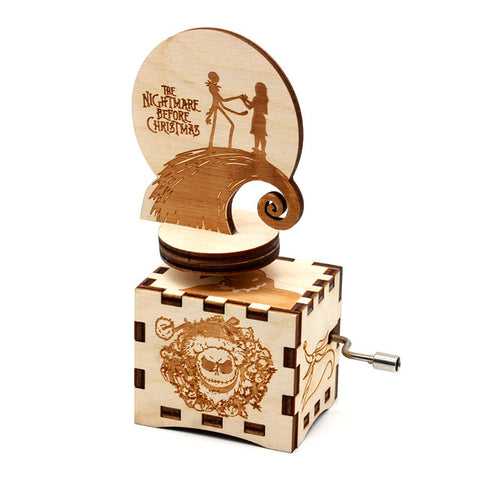 Nightmare Before Christmas Carved Music Box