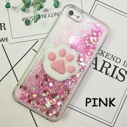 Cute 3D Squishy Glitter Quicksand iPhone Case