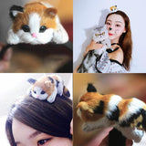 Hang On Tight Kitty Handmade Hair Band