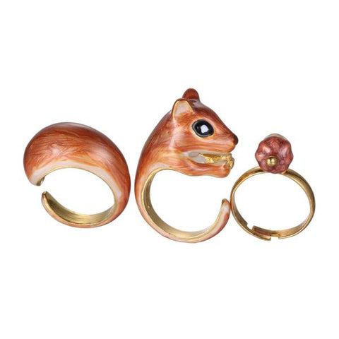 Chipmunk Squirrel Trio Ring