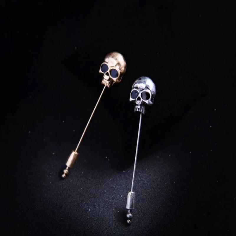 Skull Brooch Pin