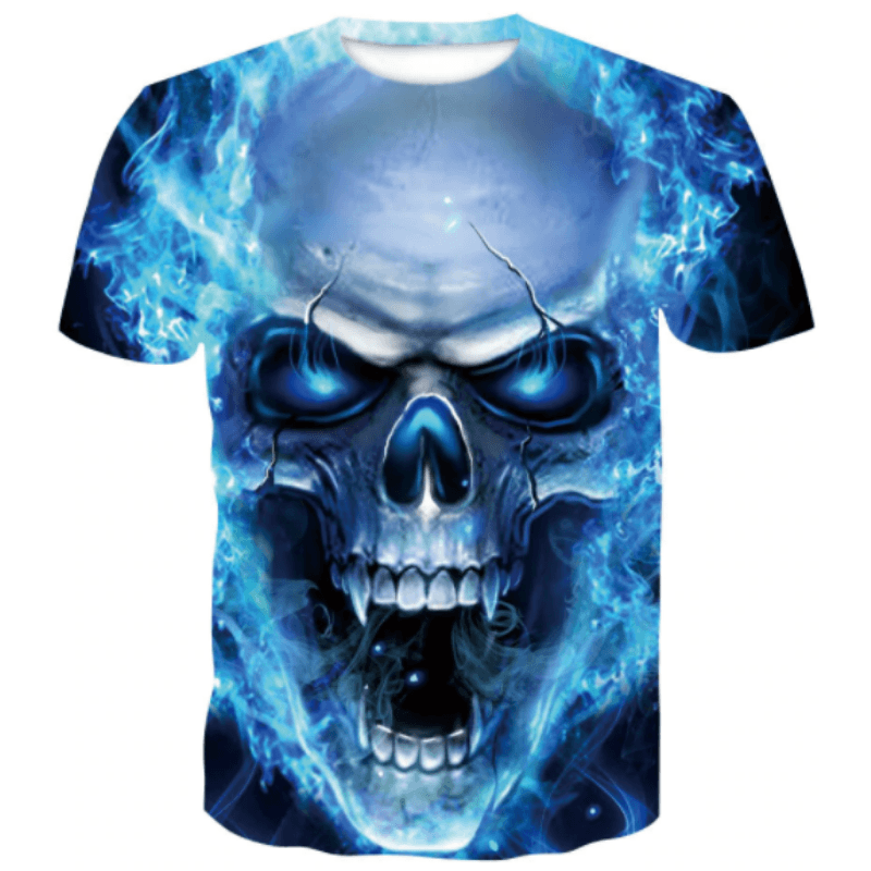 Skull Blue Fang T-Shirt