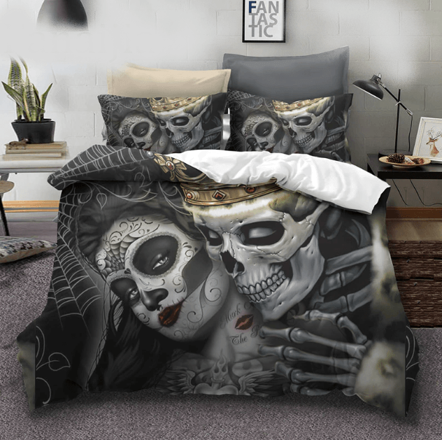 Skull King Kiss Bedding Set