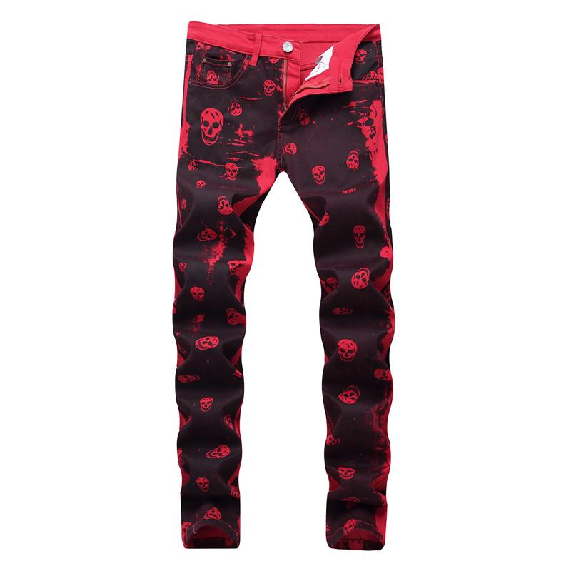 Red Skull Washed Jeans