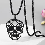Gothic Skull Stainless Steel Necklace