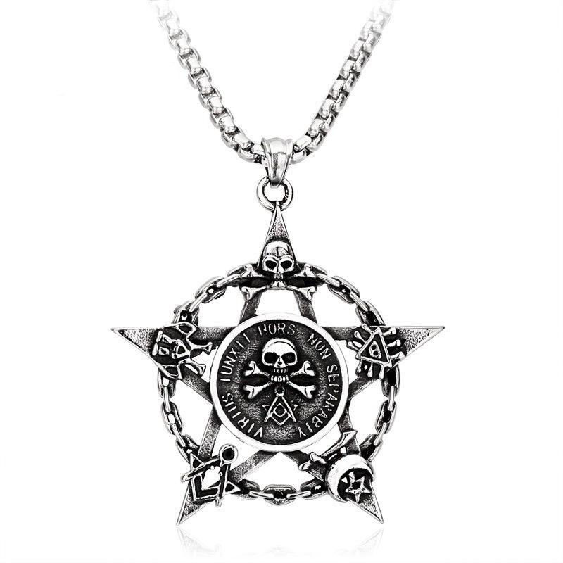 Skull Pentagram Necklaces