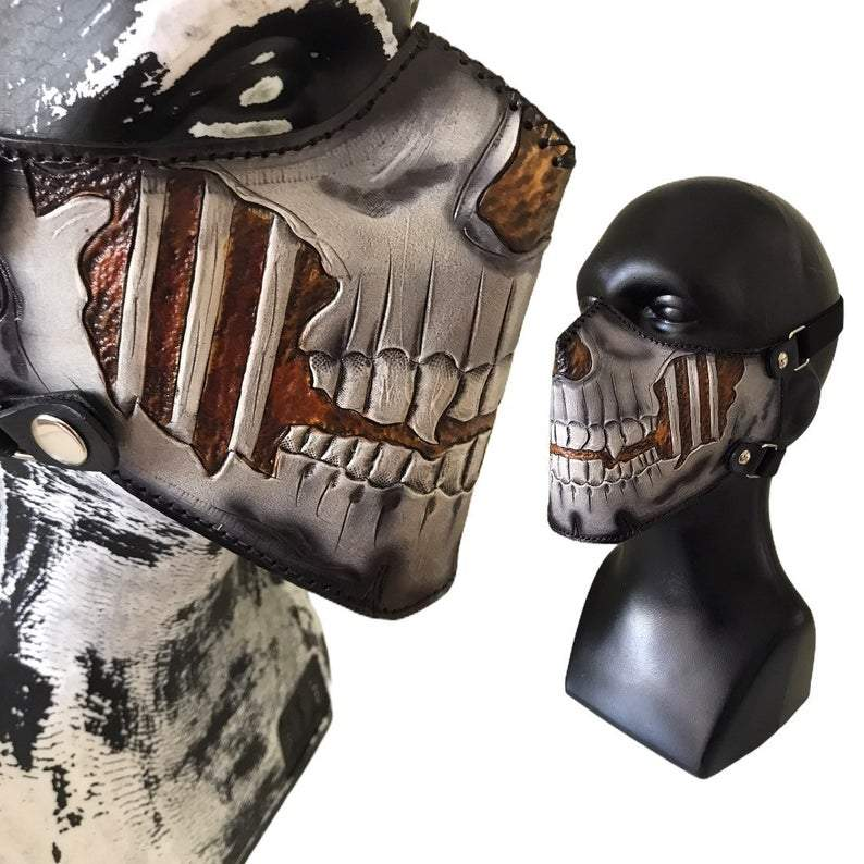 Scary Skull Motorcycle Leather Face Mask