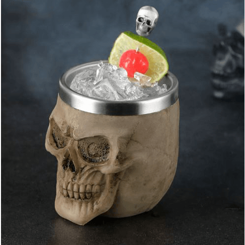 Resin Skull Gothic Cup 200ml