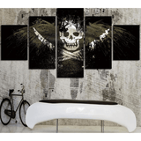 Skull Pirate Flag  5Pcs Wall Art Poster - Skullflow