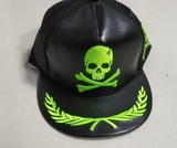 Leather Badass Skull Cap