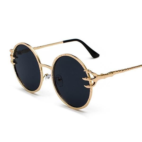 Skull Claw Round Sunglasses