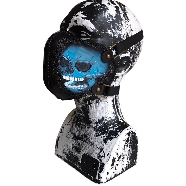 Skull Motorcycle Leather Mask
