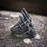 King Crown Skull Biker Ring - Skullflow