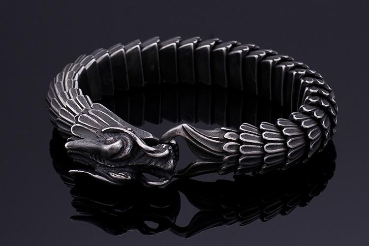 Punk Dragon Head Charm Bracelet - Skullflow