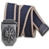 Skull Metal Tactics Woven Belt Canvas - Skullflow