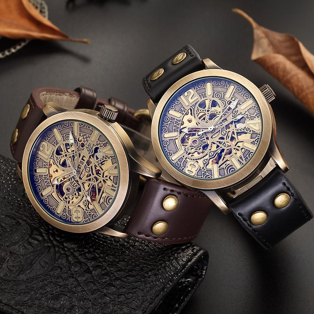 Hollow Retro Mechanical Watch