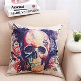 Skull Colored Cushion Cover