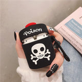 Skull Silicone AirPods Protective Case - Skullflow
