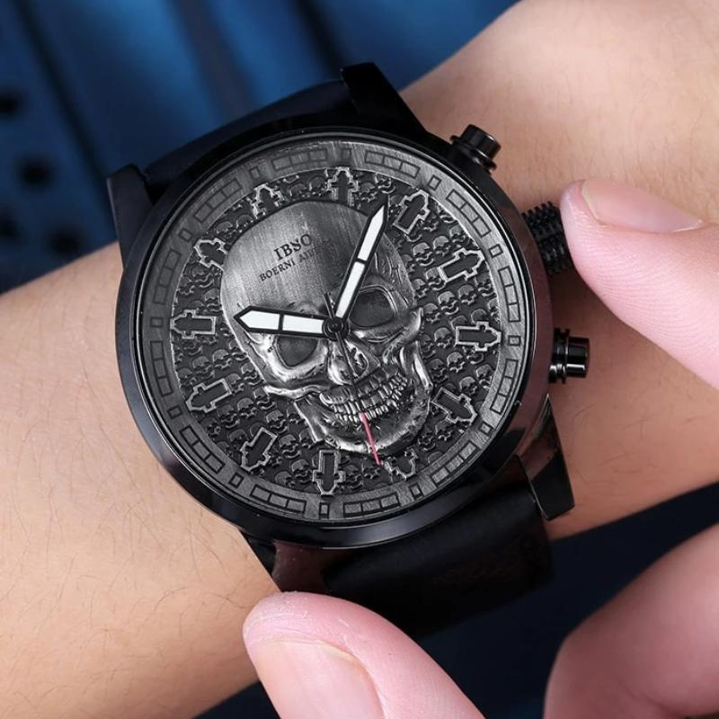 Skull Quartz  Punk  Wristwatch - Skullflow