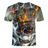 King Skull Flaming T-Shirt