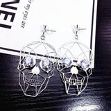 Retro Punk Skull Earrings