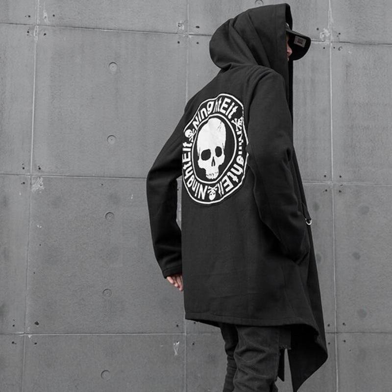 Punk Skull Gothic Trench Coat