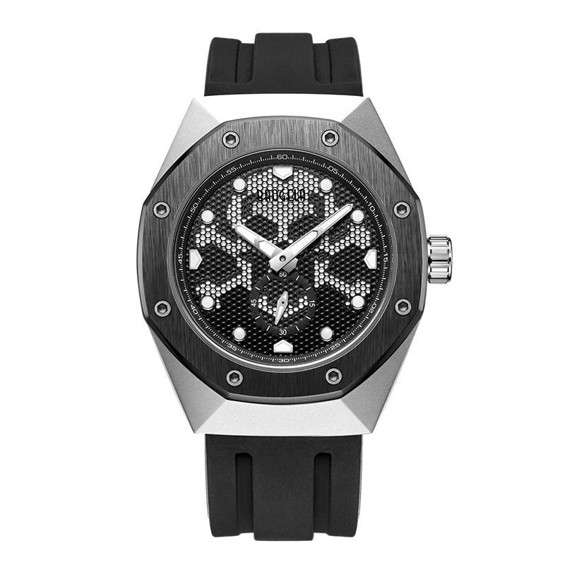 Cross Bone Skull Quartz Military  Sports Luminous Wristwatch