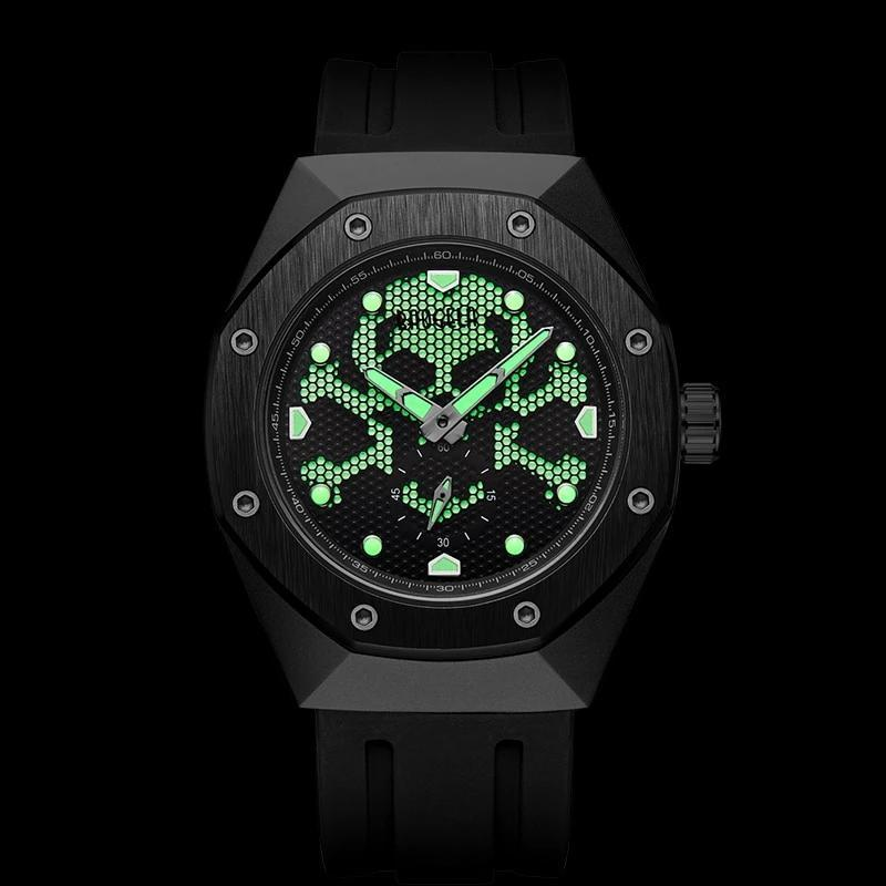 Cross Bone Skull Quartz Military  Sports Luminous Wristwatch - Skullflow