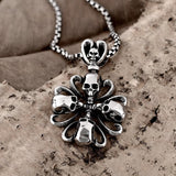 Skull Cross Punk Chain Necklace